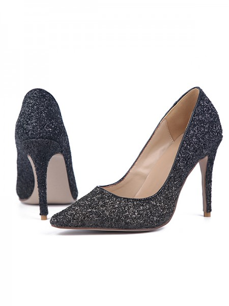 Da donna Sparkling Glitter Stiletto Heel Closed Toe Partito Scarpe